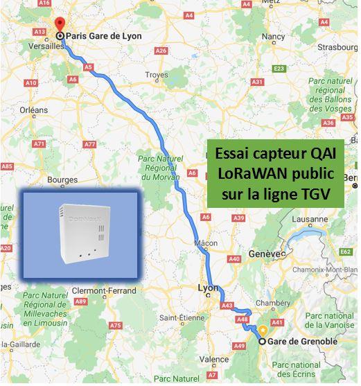 Surveillance et analyse de la Qualité de l'Air Intérieur à plus de 200km/h