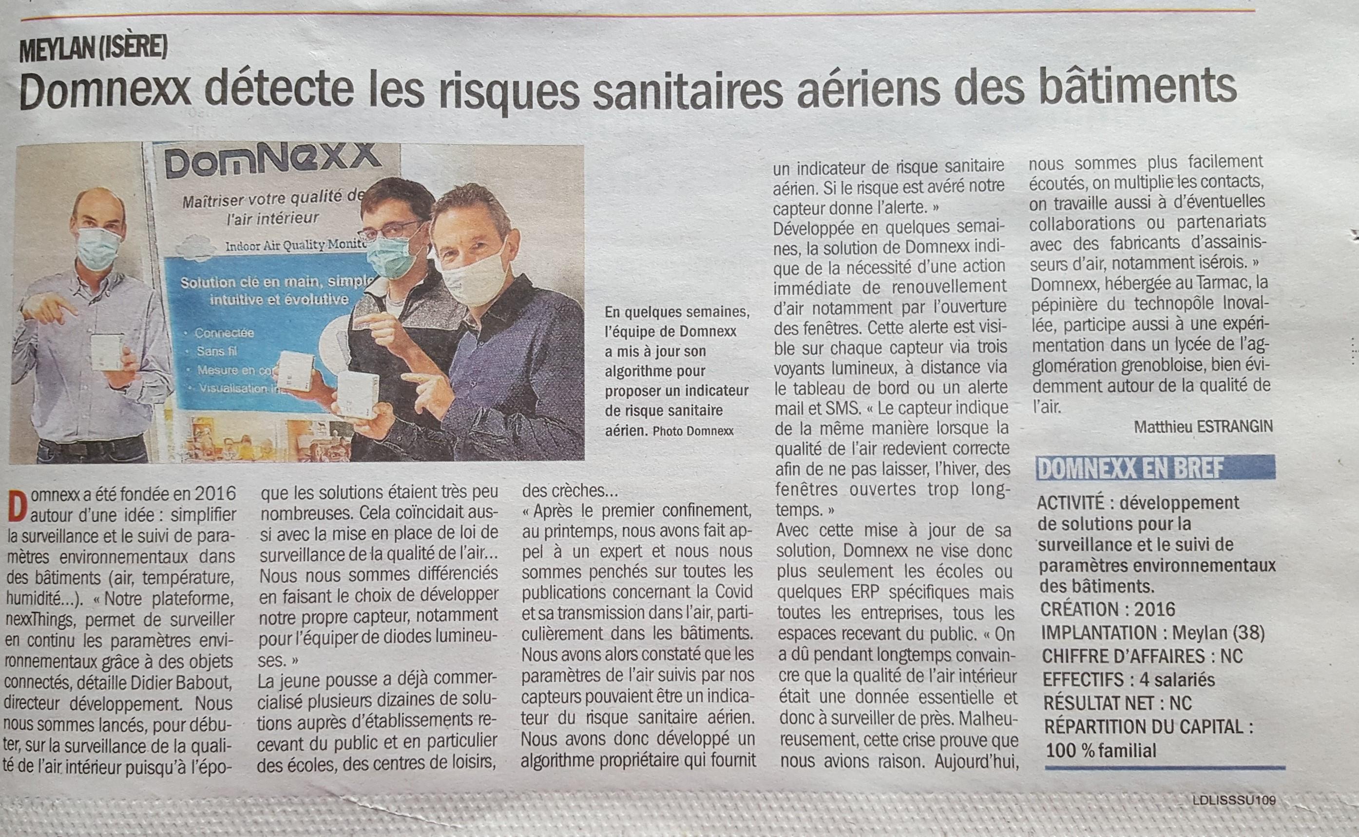 DomNexX détecte les risques sanitaires aériens des bâtiments